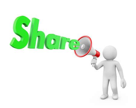 expostulate: share and megaphone
