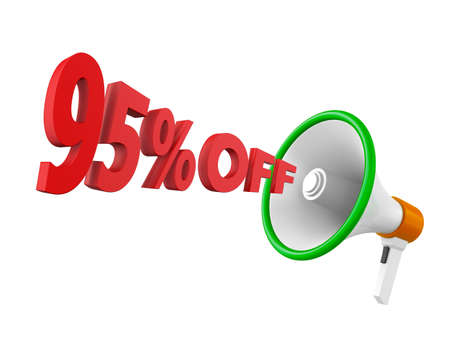 95: 95% discount and man