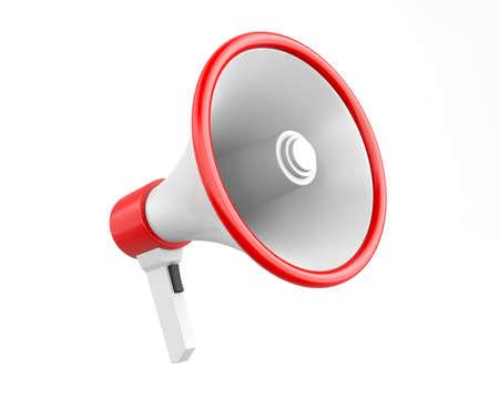 Red megaphone 3D photo