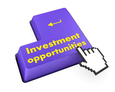 invest or investing concepts, with a message on enter key or keyboard. photo