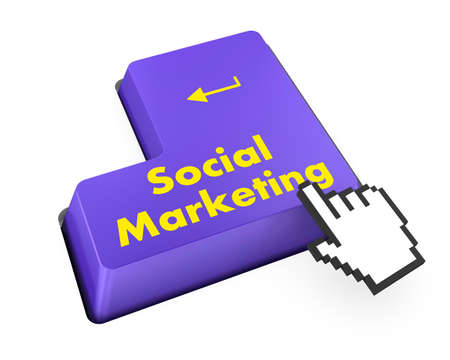 social marketing on computer keyboard photo