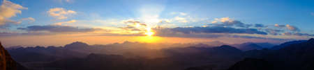 Amazing Sunrise at Moses (Sinai) Mountain 스톡 콘텐츠