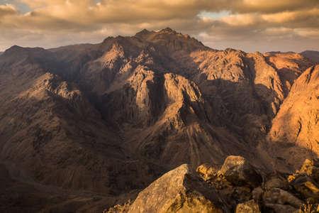 View from Mount Sinai. Egypt.