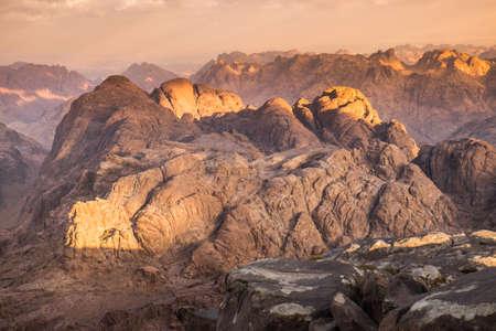 View from Mount Sinai. Egypt. photo