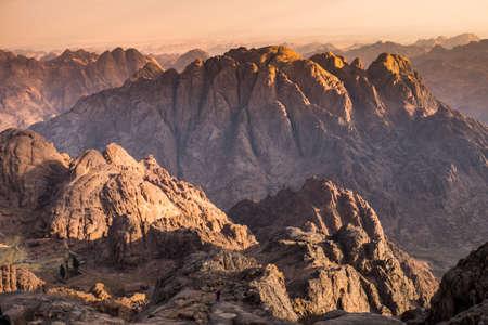 シナイ山からの眺め。エジプト。