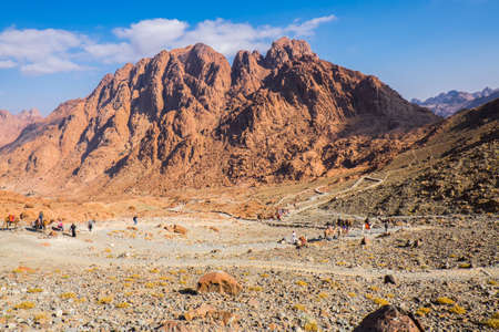 sinai: View from Mount Sinai. Egypt.