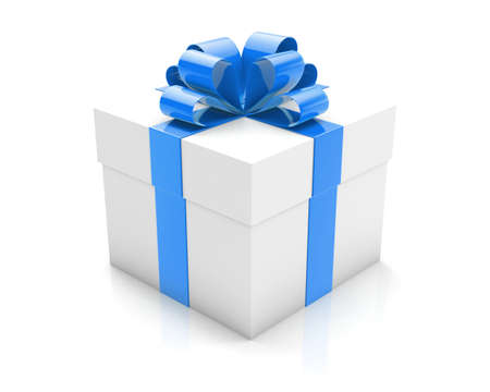 blue gift 3d Stock Photo