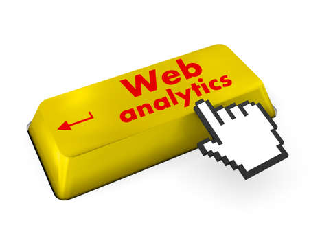 Web Analytics keyboard 3d render photo