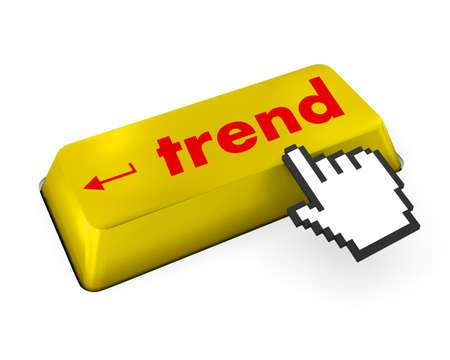 Trend button on keyboard Stock Photo