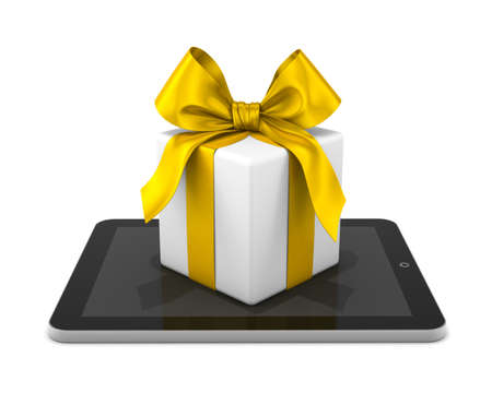 gift that come from a tablet, xmas shopping online photo