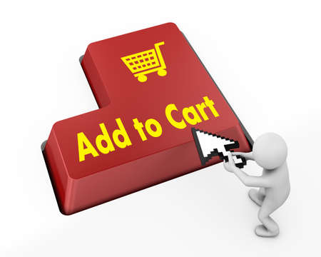 add to cart button keyboard 3d photo