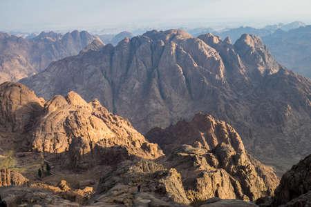 monte sinai: Vista desde el Monte Sina� en Egipto.