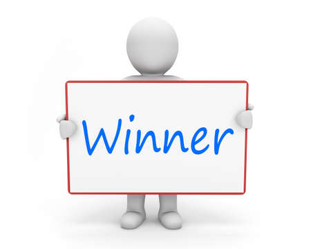 sweepstake: man write winner