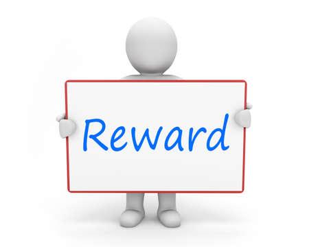 man write reward
