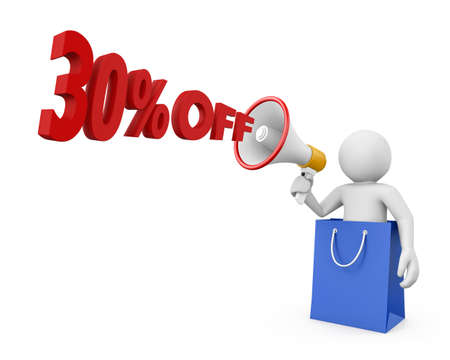 30: 30% discount and man