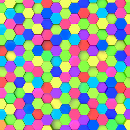 perpendicular: 3d background with hexagons