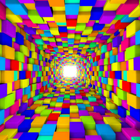 3d background with cube
