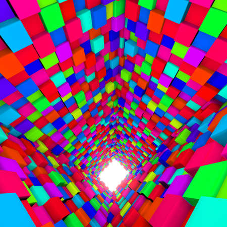 diagonals: 3d background with cube