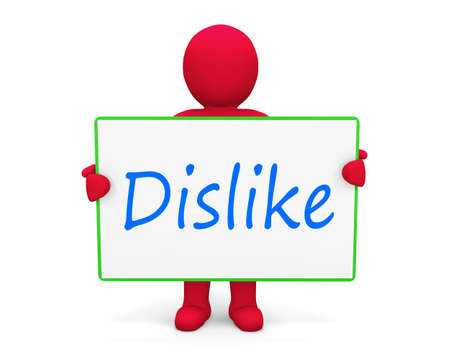 discourage: man write dislike