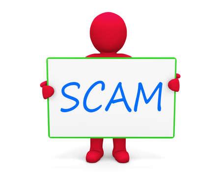 hoax: Man write scam