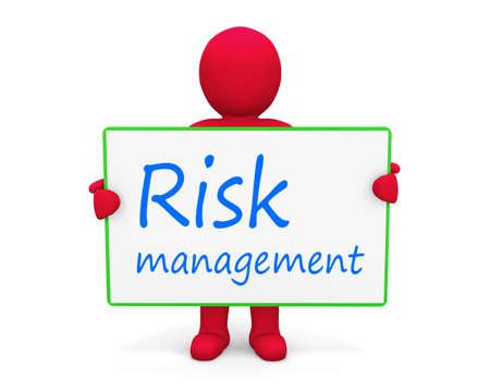 minimization: man write risk management Stock Photo