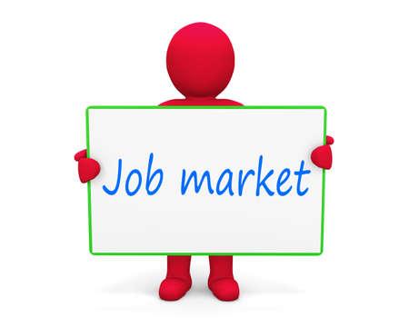 job market: man write job market