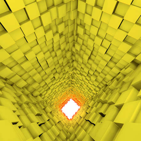 diagonals: 3d background with cube render Stock Photo