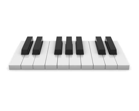 Piano keyboard. 3d on white background