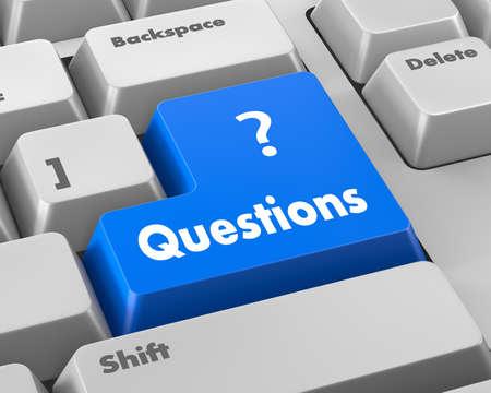 enter button: question enter button key on  keyboard Stock Photo