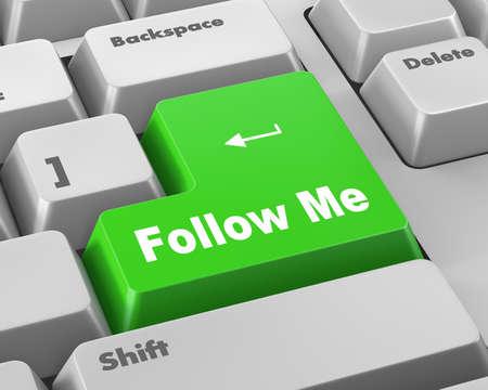 follow me: keyboard with  Follow Me button