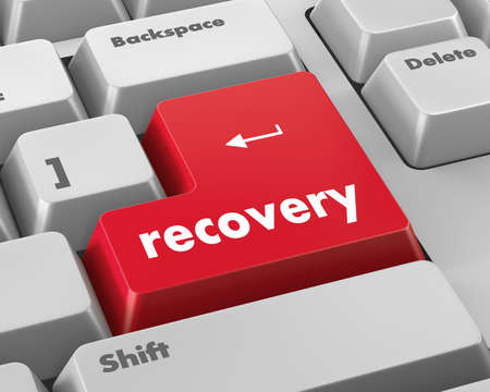 Business concept: Recovery key on the computer keyboard