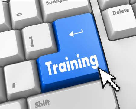 Wording Training on computer keyboard Standard-Bild