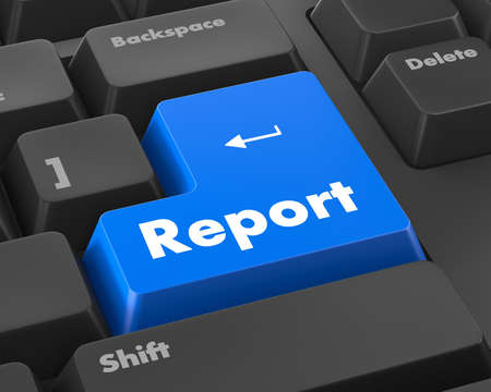 Report Concept. A key or button on a computer keyboard Stock Photo