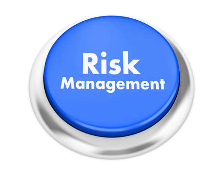 damage control: Risk Management button on isolate white background