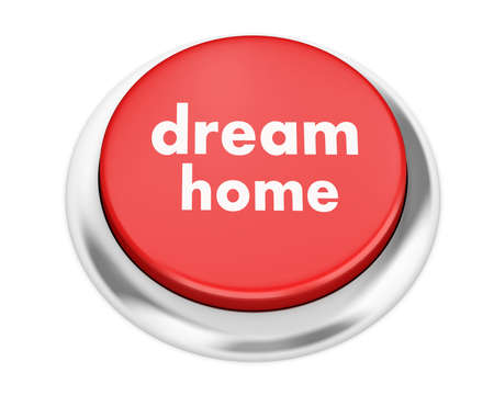 home button: dream home button on isolate white background Stock Photo