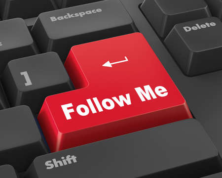 follow me: keyboard with  Follow Me button