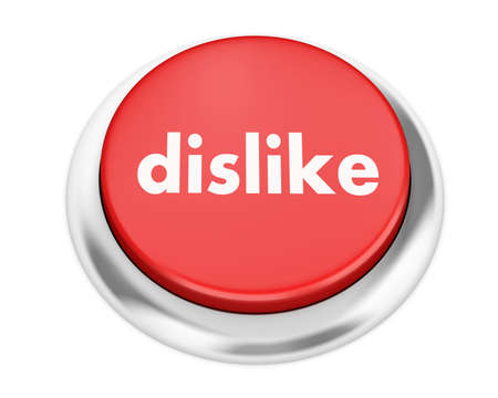 dislike button on isolate white background