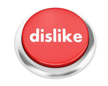 discourage: dislike button on isolate white background