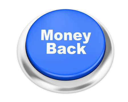 dollar signs: Money back button on isolate white background