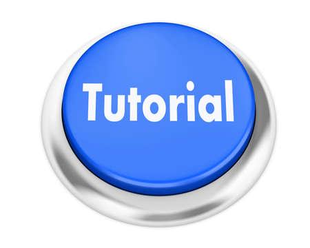 tutorial: tutorial button on isolate white background