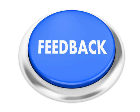 Feedback button on isolate white background