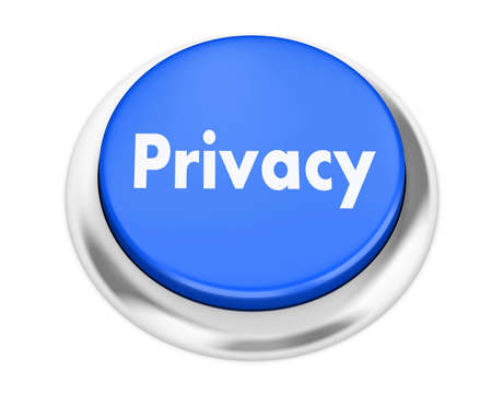 invade: privacy button on isolate white background Stock Photo