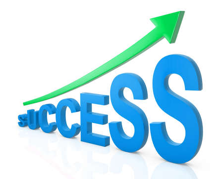 path to success: 3D generated word SUCCESS with Clipping PATH.