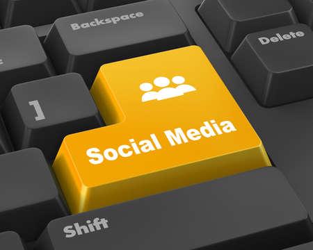 microblogging: Social media keyboard button