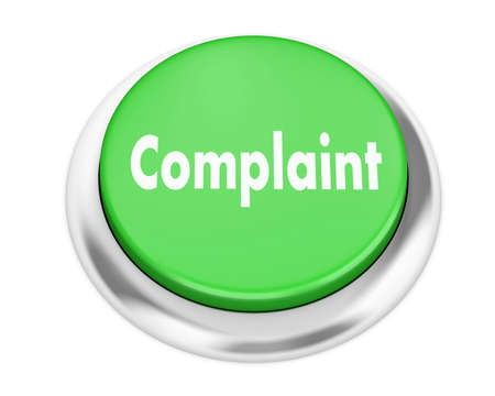 Complaint button on isolate white background