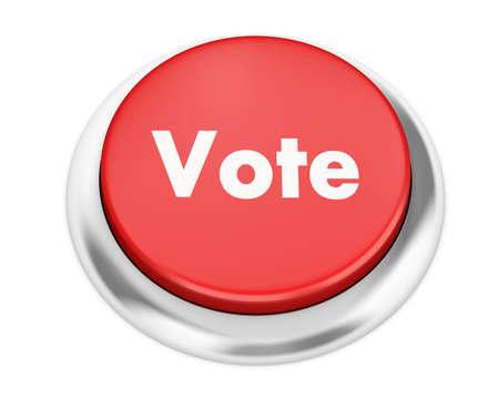 Text vote button 3d render Stock Photo