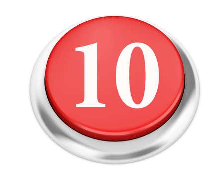 number 10: number 10 button 3d render
