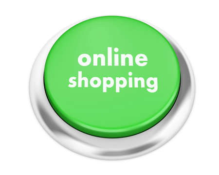 e systems: online shopping button on isolate white background