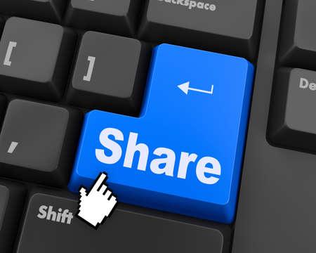 social media Button on Keyboard