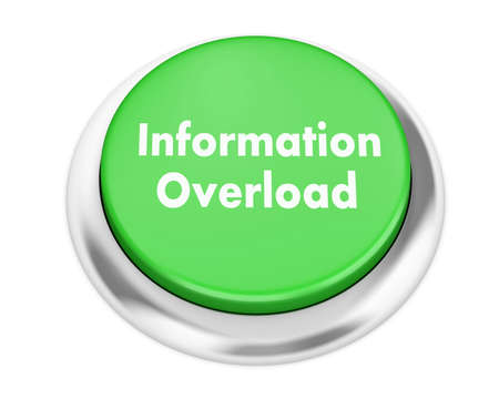 overload: Information Overload button on isolate white background Stock Photo